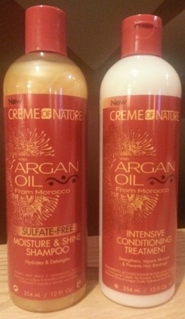 Curly Product Review Creme Of Nature S Argan Oil Sulfate Free Moisture Shine Shampoo