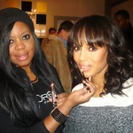 Actress Kerry Washington's makeup by Brandy Gomez-Duplessis.