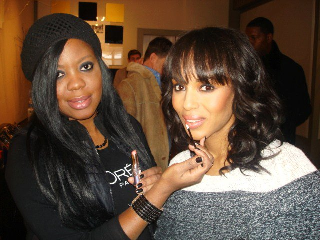 brandy doing makeup on kerry washington 2